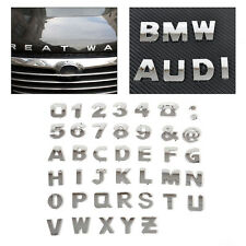 3D Car DIY Chrome A-Z Alphabet letter Number Symbol Emblem Badge Decals stickers