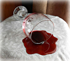 Spilled Spill Glass Merlot Wine Drink Staging Handcrafted FAKE FOOD Photo PROP