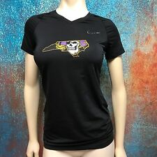 Nike Pro Combat Women Size S Black Athletic Fitted Shirt Dri-Fit Short Sleeve