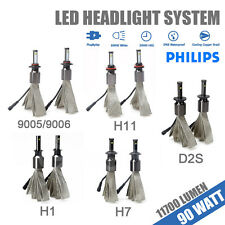 H1 H7 H11 9005/Hb3 9006/Hb4 880 D2S 90W 11700LM PHILIPS CHIP LED Headlight Kit