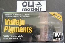 Vallejo Pigments Set No.3 STONE and CEMENT, CITY 4x30ml - Vallejo 73198