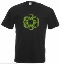 circuit board black t-shirt, mens, geek,nerd, made to order, FOTL, LARGE