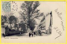cpa 53 - LAVAL (Mayenne) RUE de la PAIX Dos 1900 Edition HAMEL JALLIER & Cie