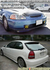 TR-Style Front (PU) + CTR Style Rear Lip (Urethane) Fits 96-98 Civic 3dr