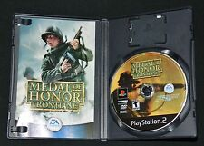 Medal of Honor: Frontline (Sony PS2, 2002) - Complete (Game + Case + Manual)