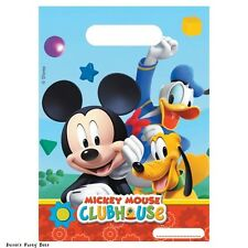 Mickey Mouse Clubhouse Goofy Donald Duck Party/Loot Bags (6 Per Pack)