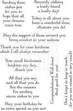 Thoughtful Messages Friends Sentiments Special Friendship 10 craft word stamps