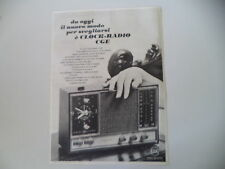 advertising Pubblicità 1968 CLOCK RADIO CGE
