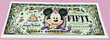 50th ANNIVERSARY MICKEY MOUSE DISNEY 50 DOLLARS UNCIRCULATED 'A' 2005 DISNEYLAND