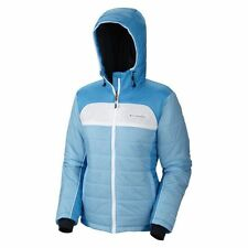Columbia Women Insulated Winter Hooded OMNI-HEAT jacket Coat M New Ski