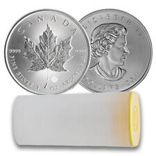 2016 Canadian Silver Maple Leaf Coin (BU, Lot of 25, Tube)