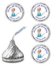 108 PERSONALIZED ELSA FROZEN FAVORS STICKERS  LABELS FOR HERSHEY KISSES CANDY