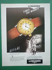 10/85 PUB MONTRE SWISS WATCH LONGINES LINDBERGH / NIKE AIR STAB FRENCH AD