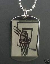 Basket Ball  Dog Tag Pendant Necklace