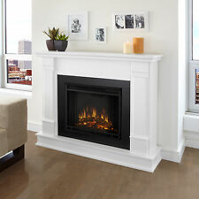 Real Flame Silverton Electric Fireplace Heater  White