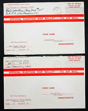 Official Election War Ballot US Navy 1944 WK-2 FPO Pearl Harbor 2 Briefe (L-2861
