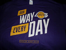 NBA Los Angeles Lakers Opening Night 2016 T-shirt XL SGA 10/26/16