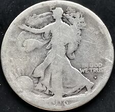 USA 1916 D Walking Liberty Half Dollar 50 Cent Denver Silber Selten 4411