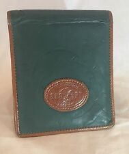 Snoopy Wallet Green Brown Leather Peanuts Super Beagle Coin Purse