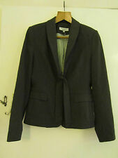 Dark Grey & White Pinstripe Next Suit Jacket only in Size 10 - Tie Front
