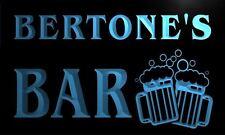 w020916-b BERTONE Name Home Bar Pub Beer Mugs Cheers Neon Light Sign