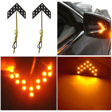 2Pcs Yellow Signal Lights Mirror Turn 14-SMD LED Arrow Panels Car Side New Hot
