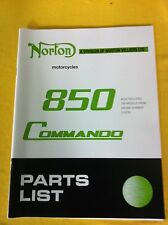 Norton 850 & 750 Commando Parts List Manual