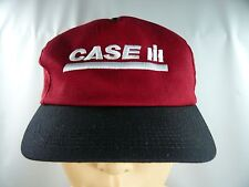 Case IH Ball Cap Hat Red Black White Embroidered Adjustable