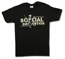 SOCIAL DISTORTION - CHECKERED SKELLY BLACK T-SHIRT NEW OFFICIAL ADULT SMALL S
