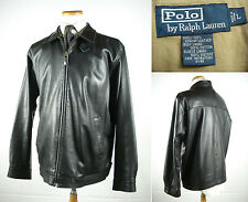 Polo by Ralph Lauren Soft Genuine Lambskin Leather Bomber Sports Jacket Sz L