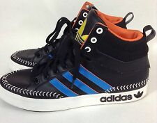 Adidas Top Court Hi Shoes Baseball Stitching Art Q32539 Mens Size 11 Black Blue