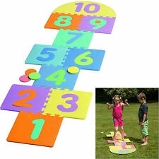 NEW KIDS GARDEN PUB HOPSCOTCH SET SCRIBBLE TOY GAME CHILDREN HOP SCOTCH 7 x 2 FT