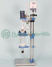 2L (1L/3L/5L/8L) Jacketed Glass Chemical Reactor Explosion Proof Optional