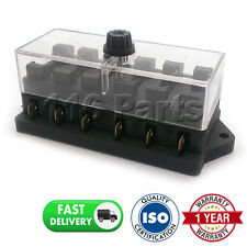 CAR MOTORCYCLE QUAD BIKE FITS 99% CARS 6 WAY UNIVERSAL STANDARD 12V FUSE BOX