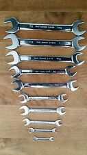 Gray Tools SAE Mirror Chrome 10 pc Open End Wrench Set (on par with snap on)