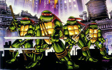 "Teenage mutant ninja turtles 2014 Movie Fabric poster 21""x13""  Decor 25"