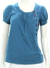 Marc By Marc Jacobs Blue Cotton Button Front Top Size Small
