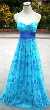 NWT WINDSOR $150 Turquoise Royal Evening Formal Gown 7