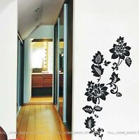 Large Vine Flower Wall Stickers Black Art Decals mural Wall Paper Decor Reusable
