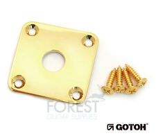 Gotoh JCB4 Metal Jack plate square curved LP style gold finish with screws