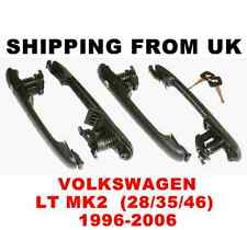 4x DOOR HANDLE LOCK SET FRONT LEFT RIGHT SIDE REAR 1 KEY! for VW LT MK2 28 35 46