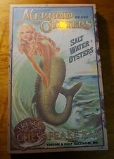 LIGHTED FLICKER FLAME SUN MERMAID Tropical Beach Canvas Home Decor Sign NEW
