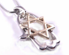 Star Of David Magen Hamsa Hand Of Fatima Evil Eye Necklace Pendant Silver Gold