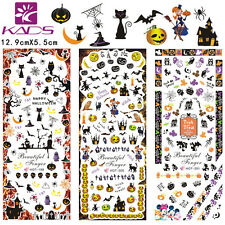 3Sheets/Lot Halloween Nail Art Stickers Water Transfer Decal #HOT199-201