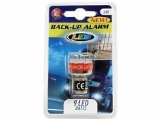 2 x Reversing Beeper Alarm Warning 9 LED Light Bulb Back Up Van Trailer Caravan
