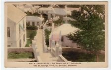 WALK FROM HOTEL TO TOWN OF St. GEORGES: Bermuda postcard (C21550)
