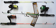 """HT Neon Ice Fishing Combo Assortment, 3 Pack, 24"""" Light Action Rod/Reel #HTN-12A"""