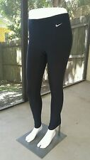 Womans Nike Fit Dry Warm Running Tights Pants Black Medium Compression