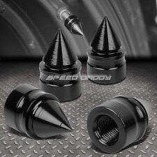 4 X ALUMINUM TIRE/RIM VALVE/WHEEL AIR PORT DUST COVER STEM CAP/CAPS RT011 BLACK