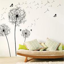 Large Black Dandelion Wall Sticker Art Decals PVC Wall Decoration Vinilos Pared